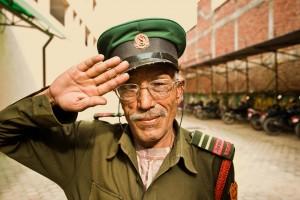 Military officer in Kathmandu, Nepal
