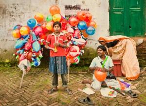 Balloon sellers in Kathmandu, Nepal