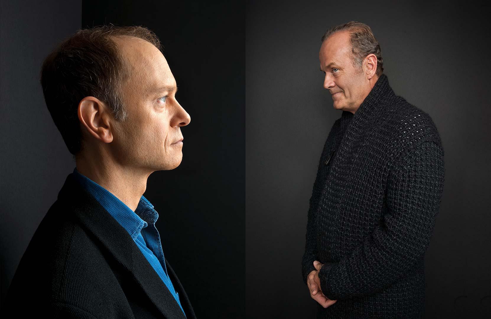 Celebrity portrait photography of David Hyde Pierce and Kelsey Grammer