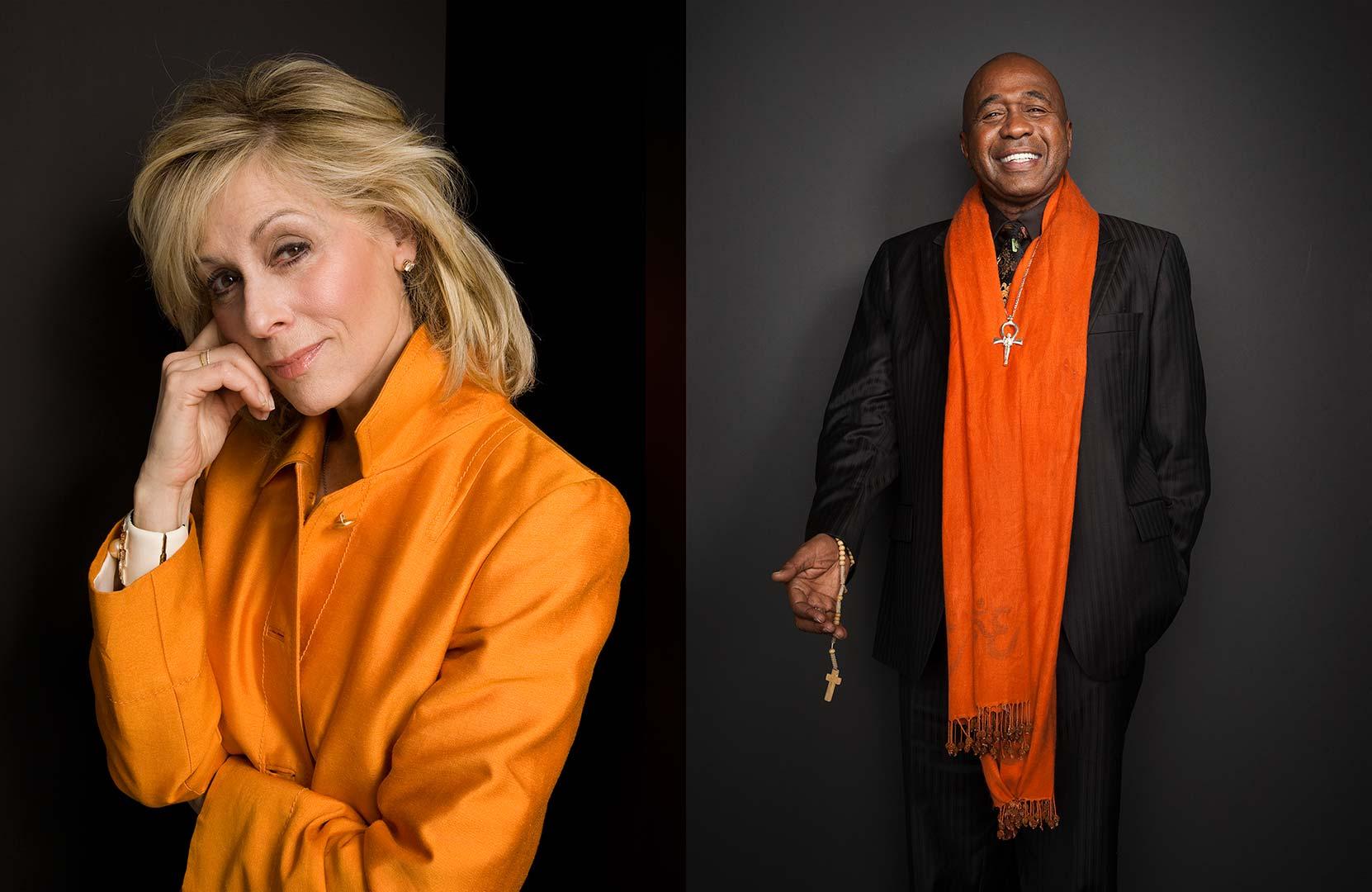 Celebrity portrait photography of Judith Light and Ben Vereen