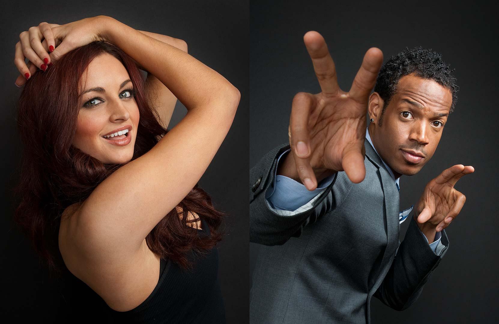 Celebrity portrait photography of Maria Kanellis and Marlon Wayans
