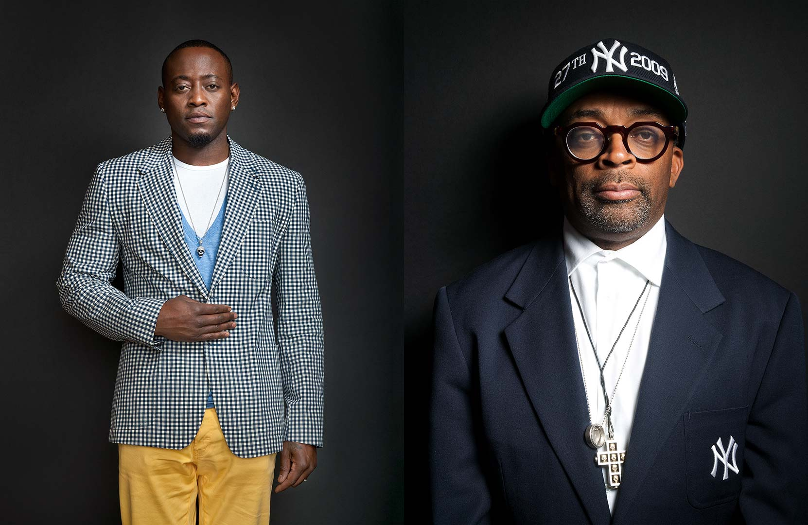 Celebrity portrait photography of Omar Epps and Spike Lee