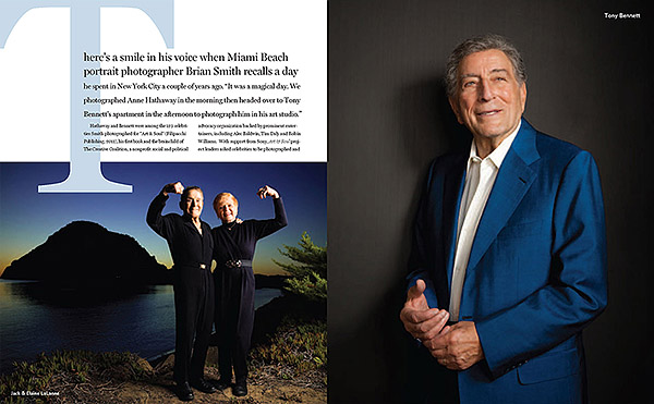 Jack Lalanne and Tony Bennett photographed by Brian Smith
