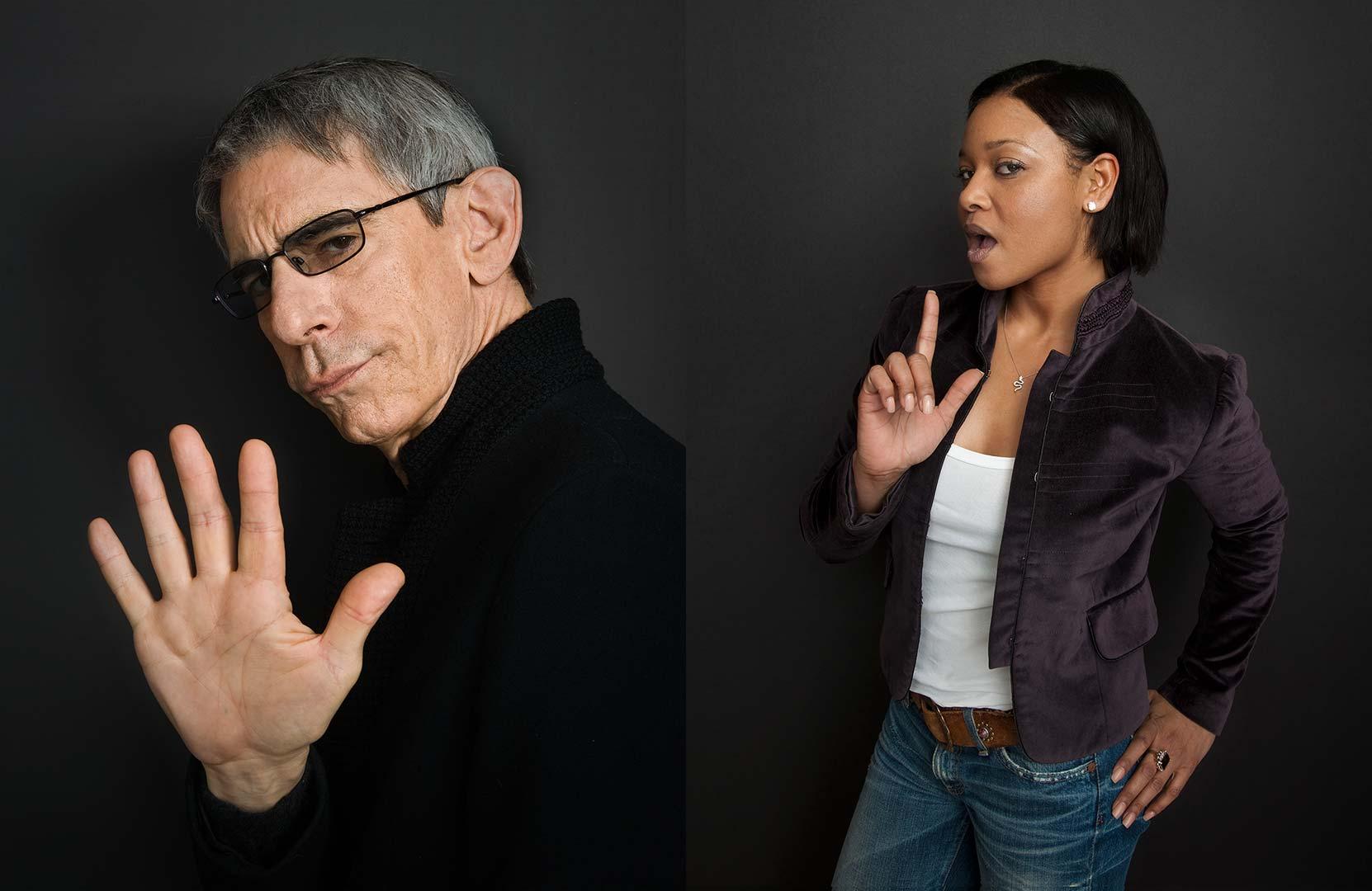 Celebrity portrait photography of Richard Belzer and Tamala Jones