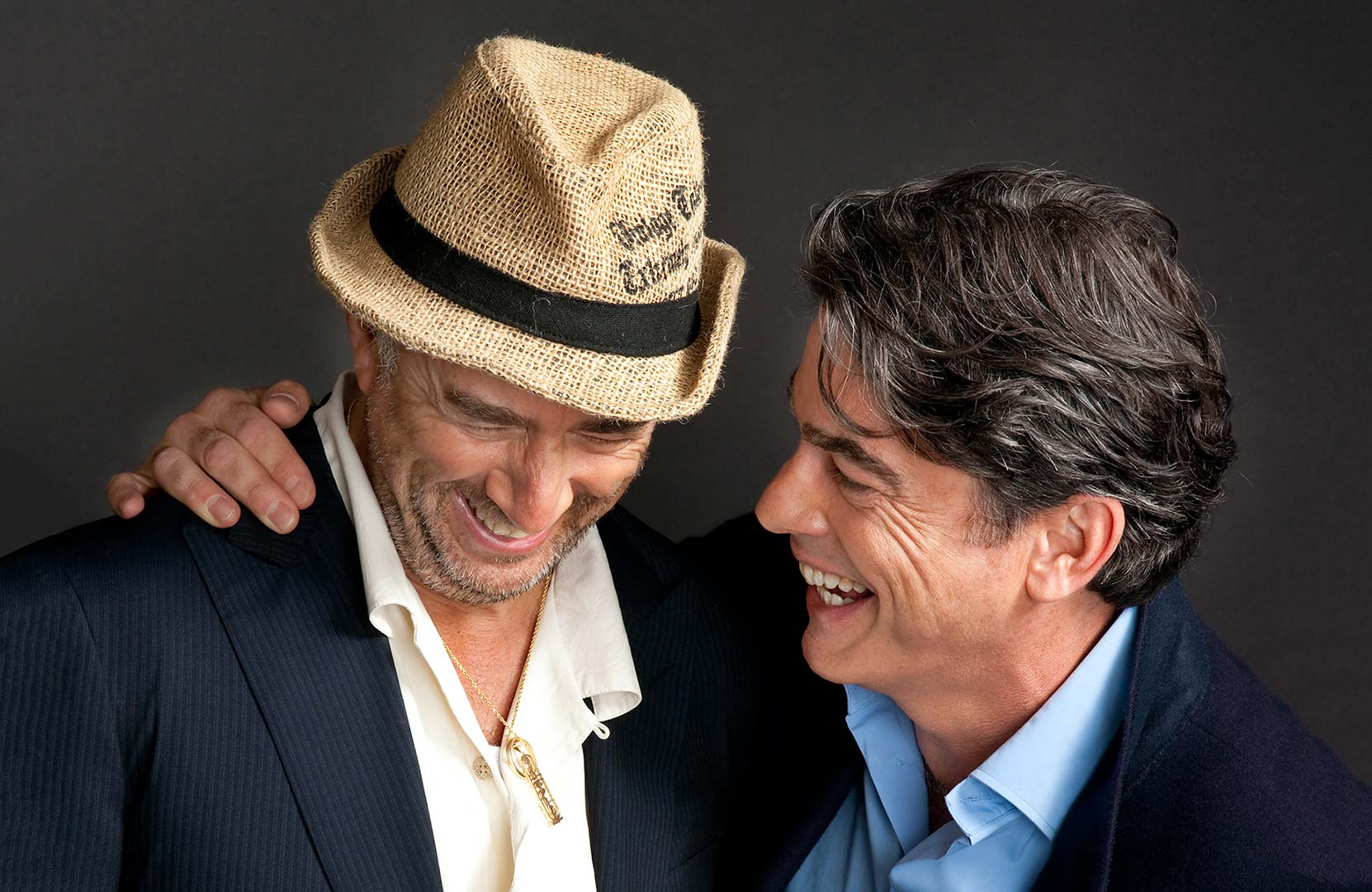 Celebrity portrait photography of Richard Schiff and Peter Gallagher