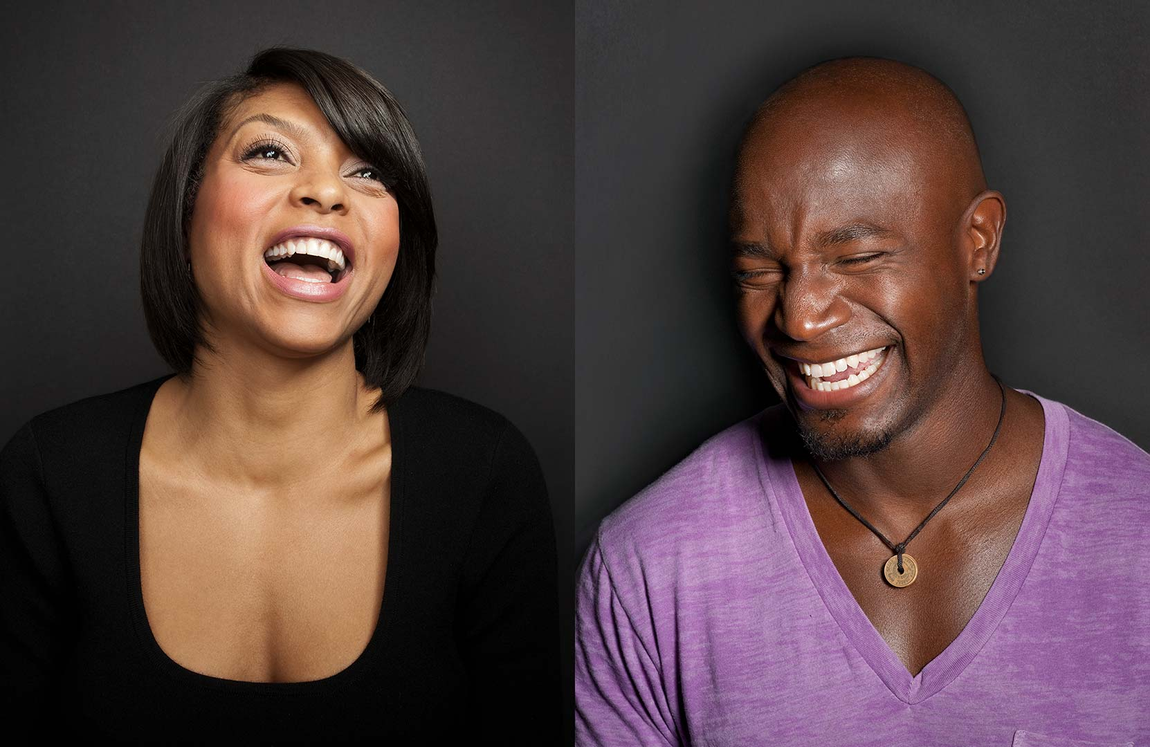 Celebrity portrait photography of Taraji P Henson and Taye Diggs