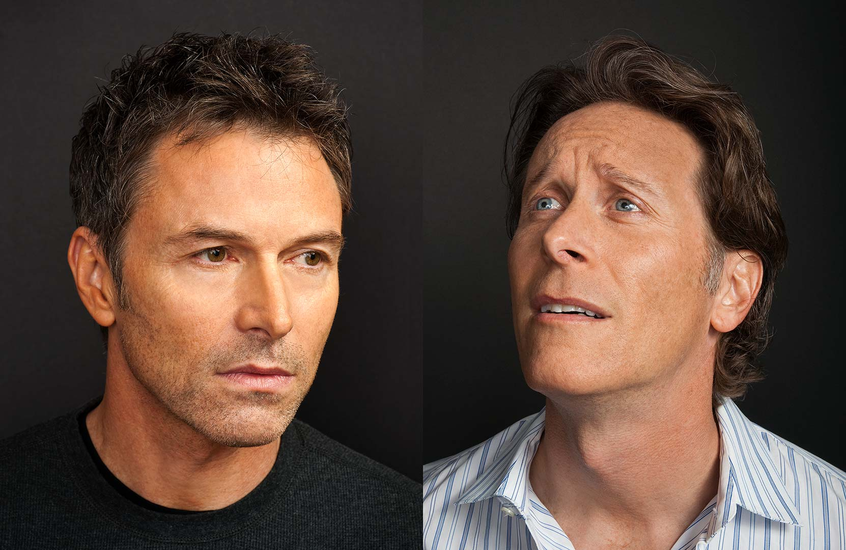 Celebrity portrait photography of Tim Daly and Steven Weber