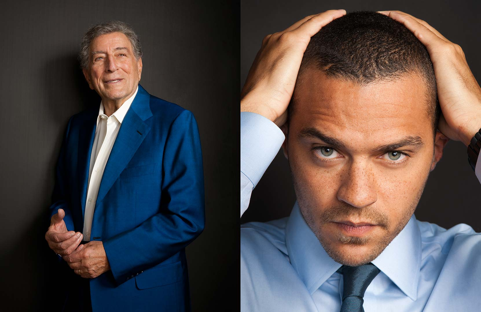 Celebrity portrait photography of Tony Bennett and Jesse Williams
