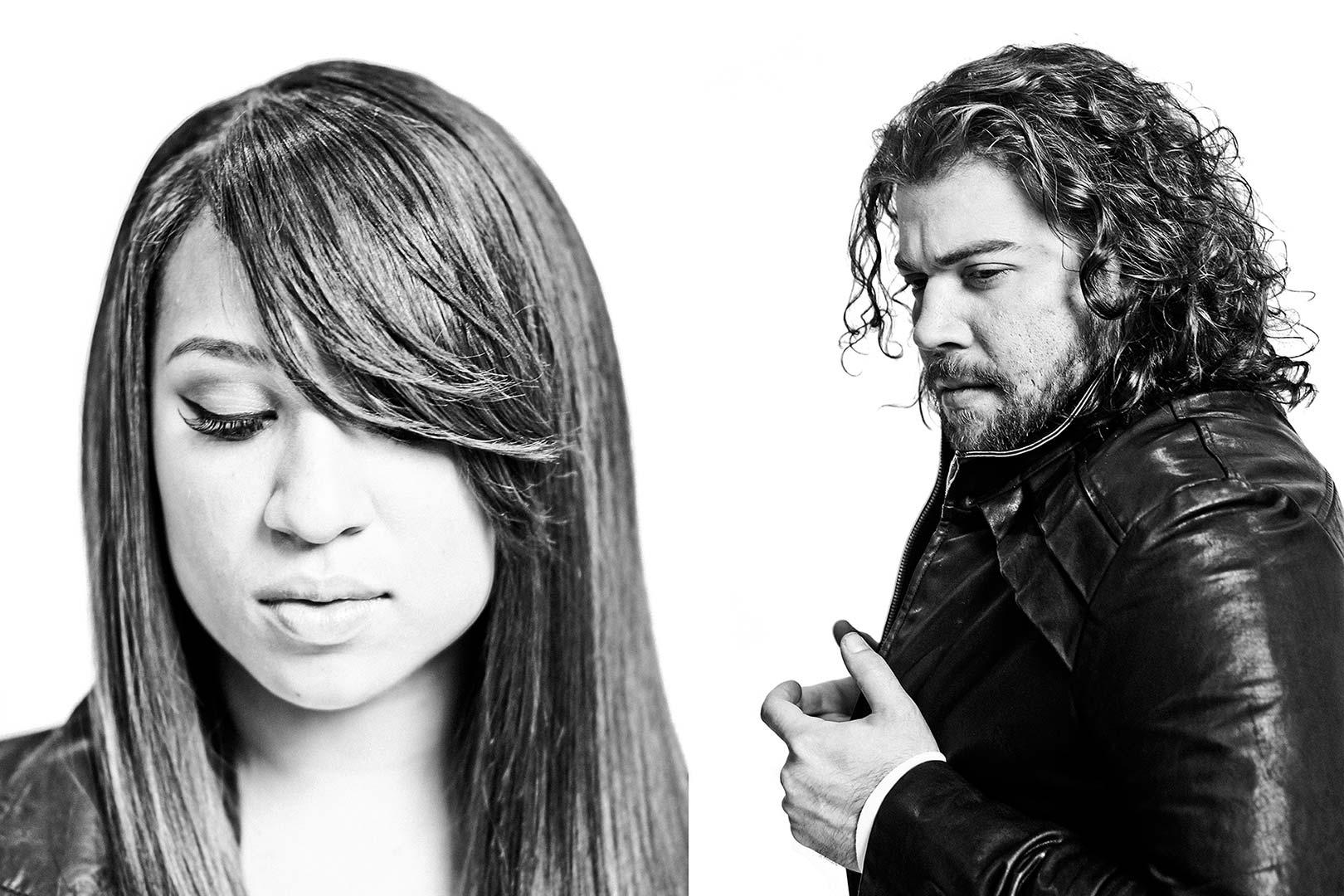 Portraits of X Factor Finalists Melanie Amaro and Josh Krajcik