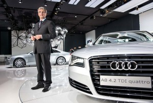 Rupert Stadler, CEO of AUDI photographed with the new Audi A8