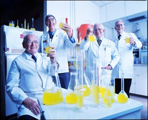 Gatorade Scientists photographed in their lab for Sports Illustrated