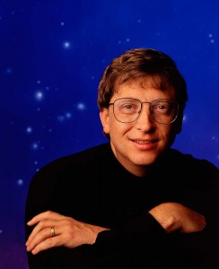 Executive Portrait of Microsoft founder Bill Gates