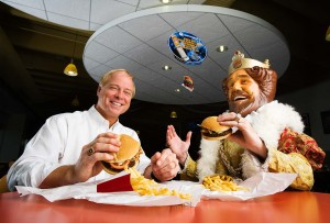 Burger King VP Russ Klein with the Burger King