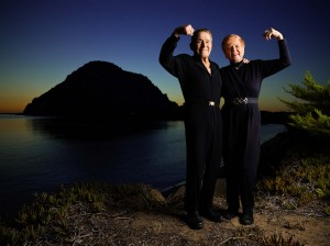 Portrait of Jack and Elaine LaLanne in Morro Bay, California