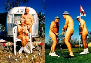 Portraits of Nude Golfers photographed for Sports Illustrated