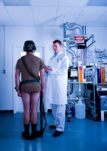 Military Bacteria-resistant underwear research scientist