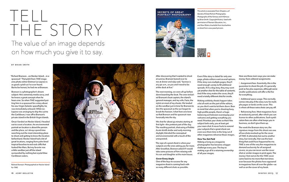 ASMP Bulletin features Secrets of Great Portrait Photography
