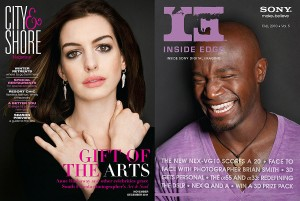 Art & Soul on the covers of City & Shore and Inside Edge magazines