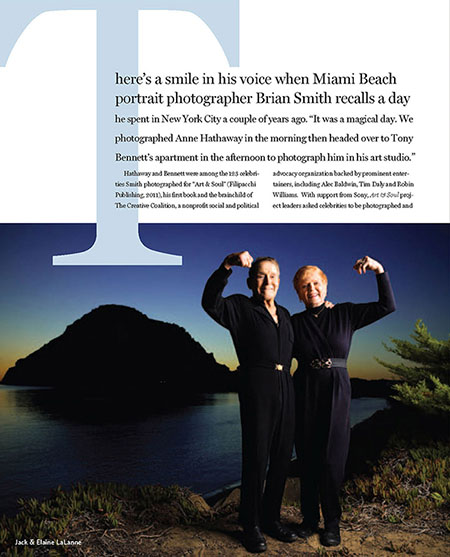 Celebrity Portrait Photographer Brian Smith featured in Professional Photographer magazine