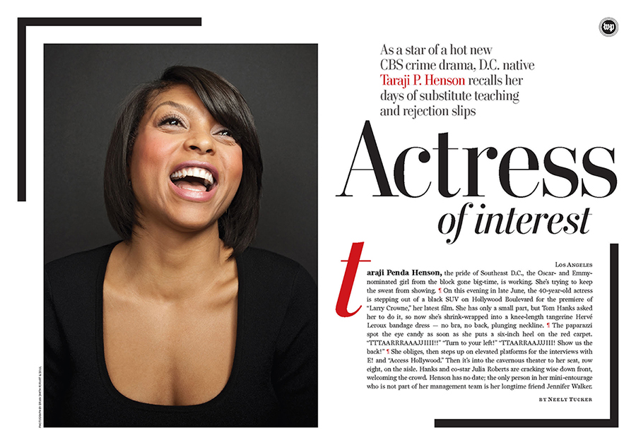 Taraji P. Henson in Washington Post Magazine
