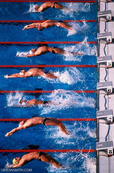 1984 Olympic Backstroke Start