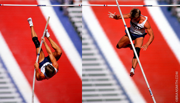 sports photography of USA Olympic Pole Vault trials