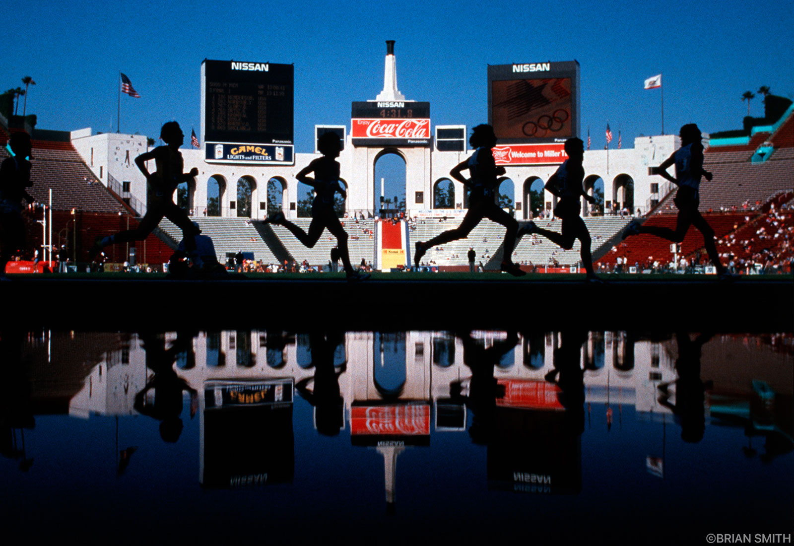 1984 Olympic Steeplechase Trials sports photography by Brian Smith