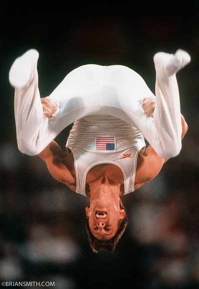 sports photography of Olympic Gymnast Tim Daggett