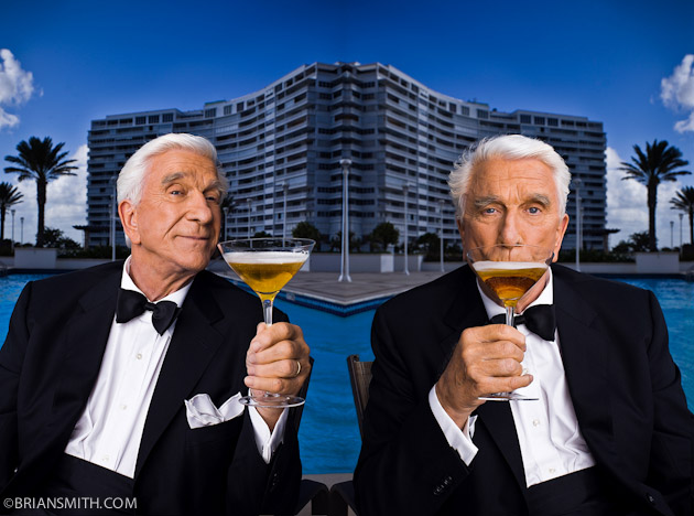 celebrity portrait photography of actor Leslie Nielsen