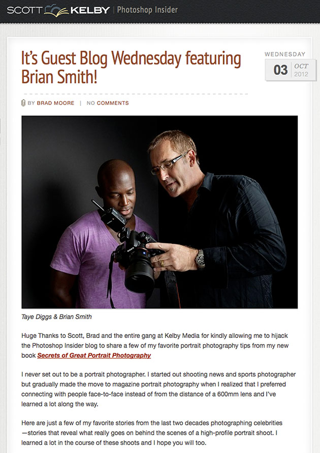 Brian Smith Guest Blog Scott Kelby Photoshop Insider