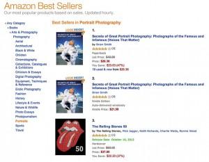Secrets of Great Portrait Photography land top spot among Portrait Photography books on Amazon