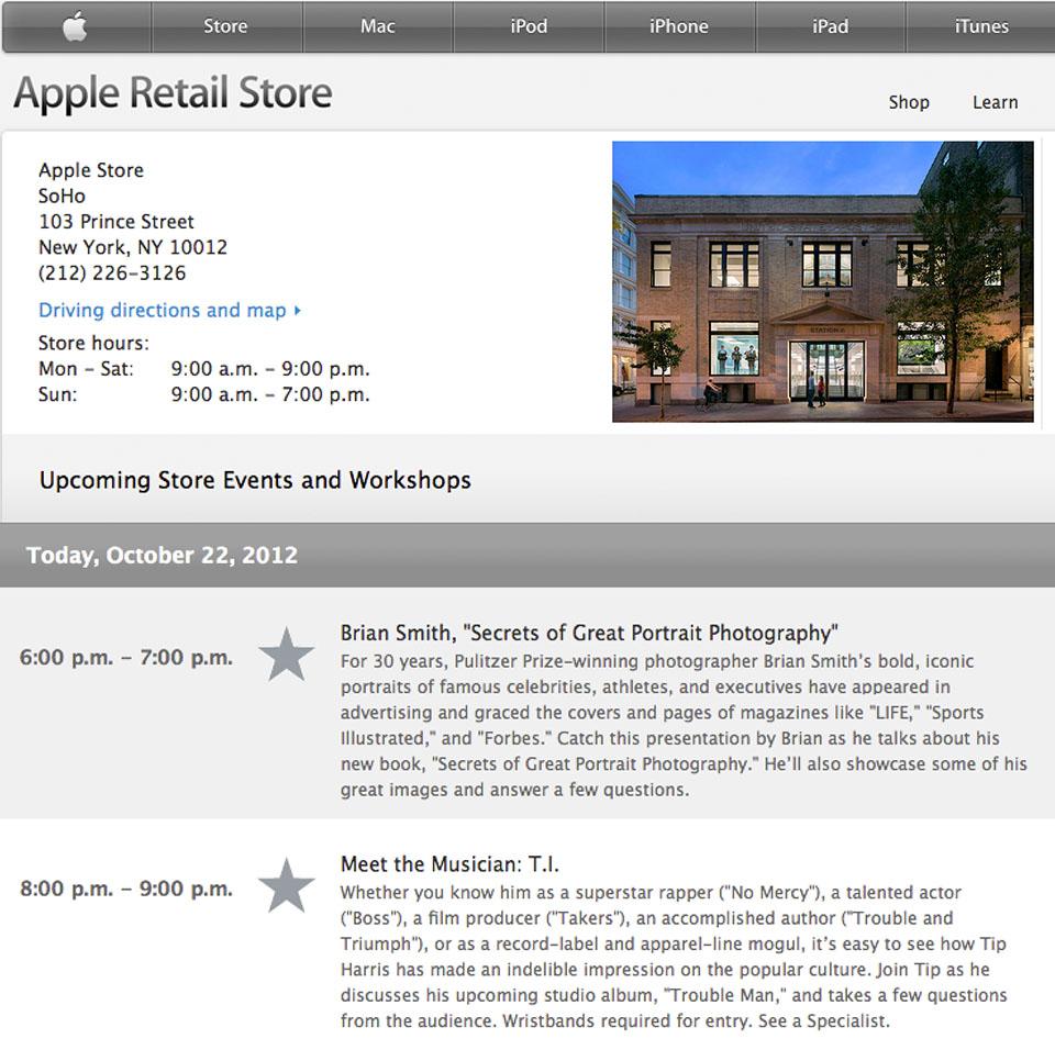 Brian Smith at Apple Store SoHo
