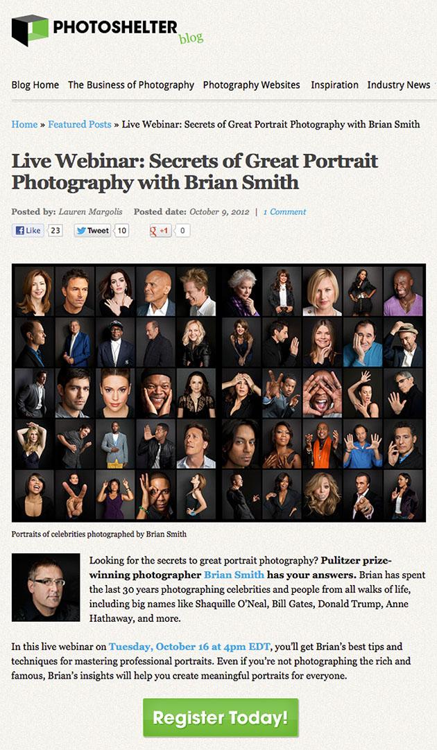 Secrets of Great Portrait Photography Webinar from PhotoShelter