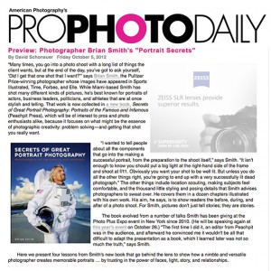 Secrets of Great Portrait Photography previewed in Pro Photo Daily