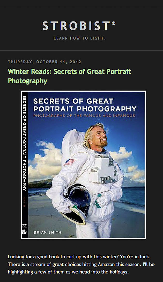 Strobist reviews Secrets of Great Portrait Photography