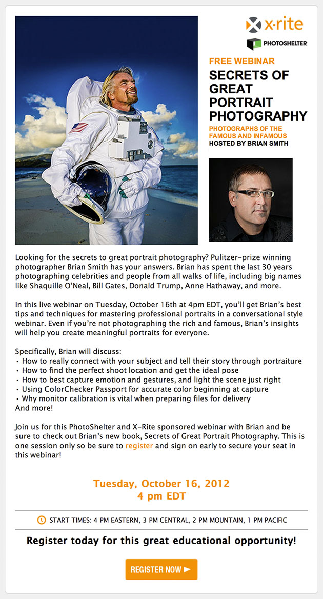 Brian Smith Portrait Photography Tips