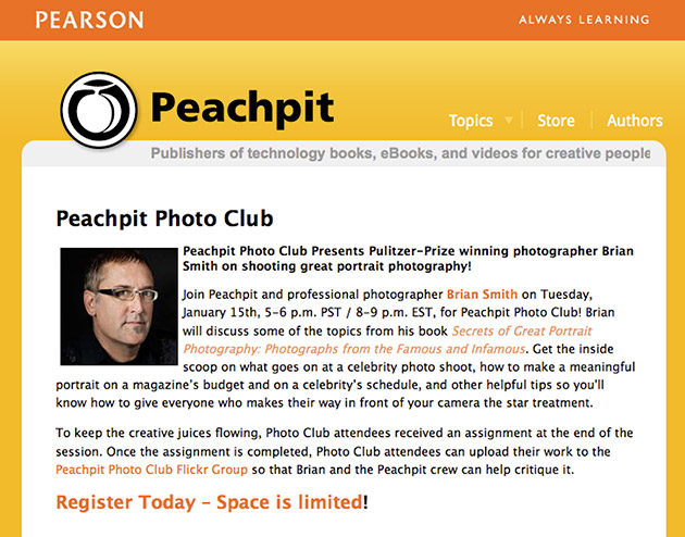 Peachpit PhotoClub Portrait Photography