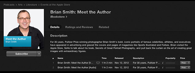 author brian smith apple store portrait photography book talk