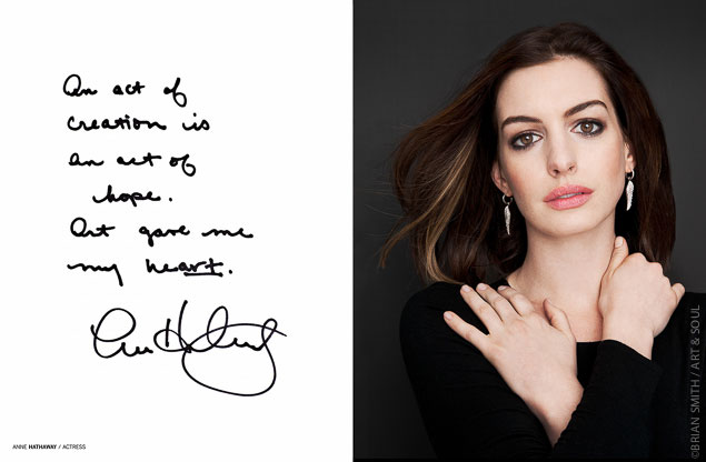 Celebrity portrait pohotograph of Anne Hathaway