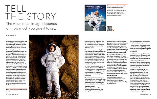 ASMP Bulletin showcasing Secrets of Great Portait Photography