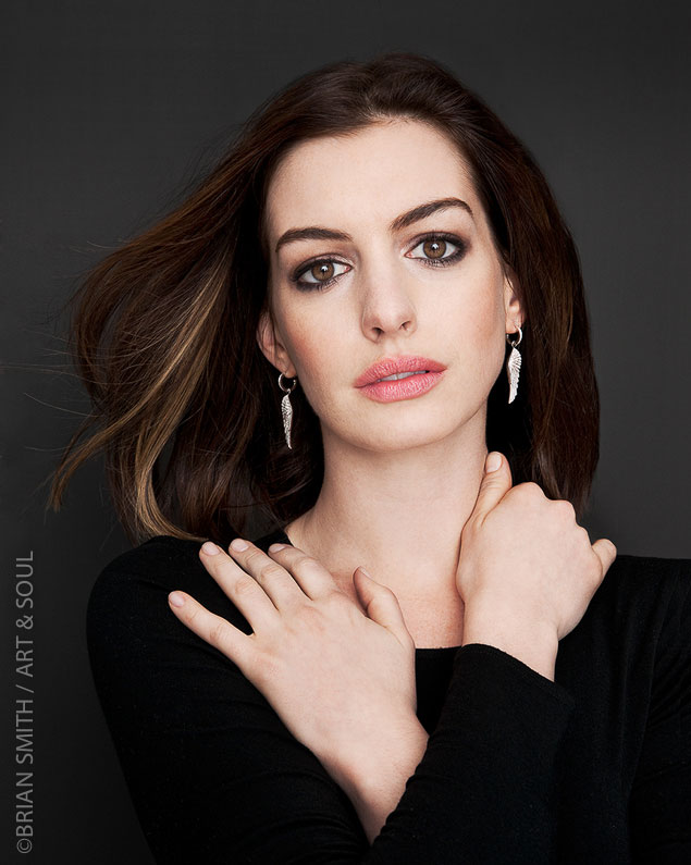 Actress Anne Hathaway portrait by Brian Smith