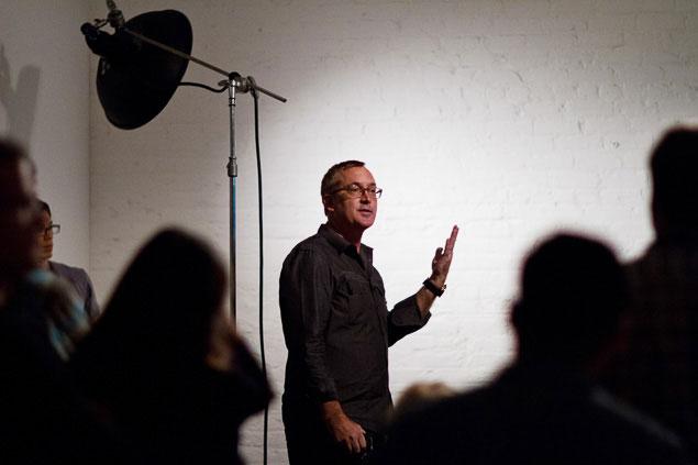 Brian Smith portrait photography workshop speaker lighting demo