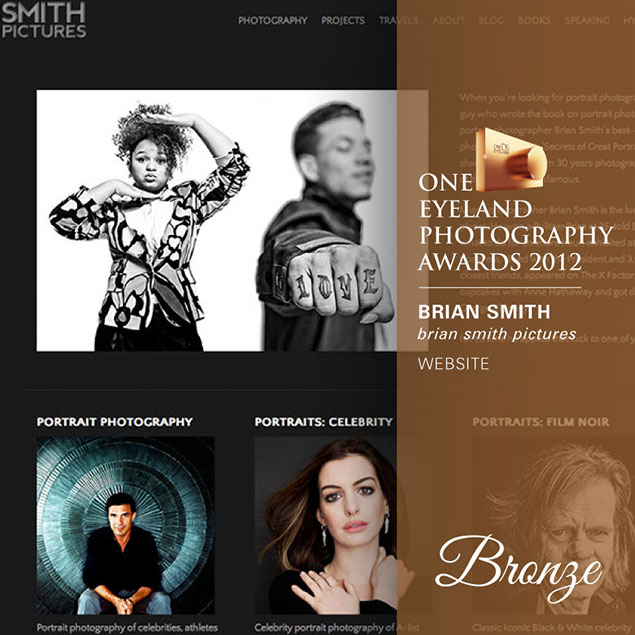 Brian Smith wins One Eyeland Award for Website Design
