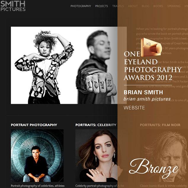 Brian Smith wins One Eyeland Award for Website Design