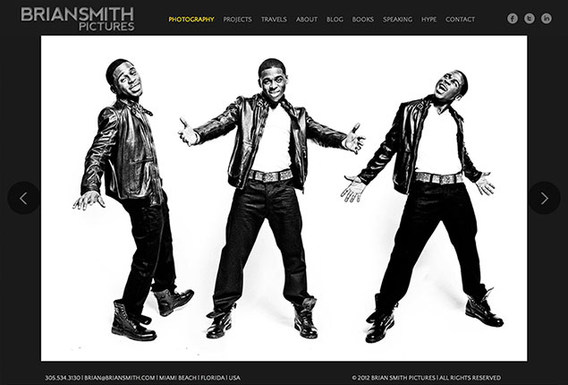 Brian Smith Pictures wins portrait photography website design award