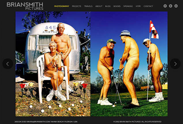 Brian Smith Pictures photography projects wins website design award