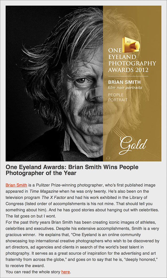 Resource Magazine Mentions Brian Smith One Eyeland Award
