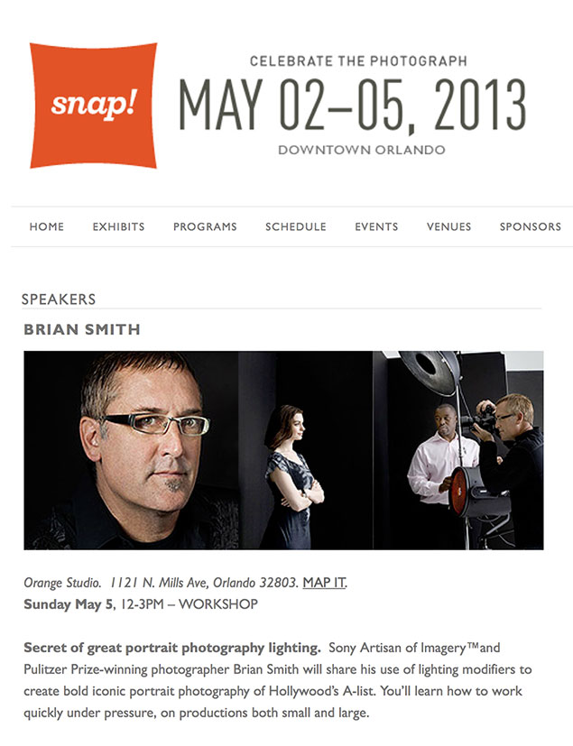Brian Smith Speaks at Snap Orlando Photography Festival