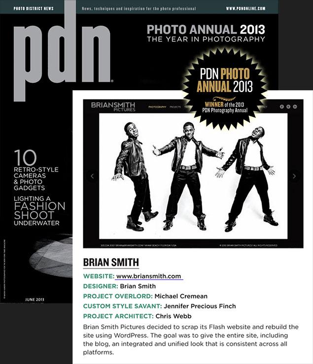 Brian Smith wins PDN Award for photography website design
