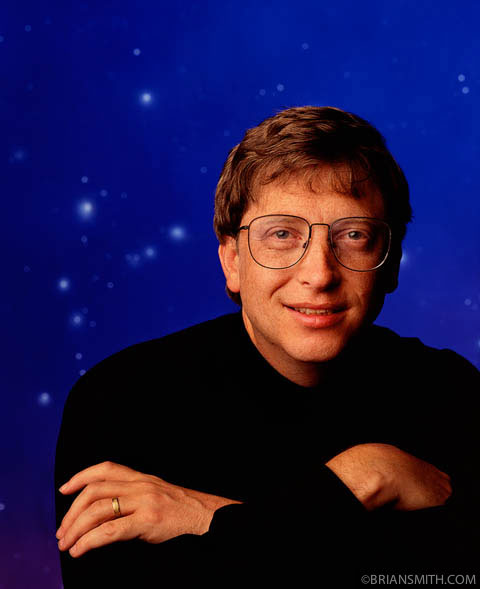commercial photography portrait of microsoft ceo bill gates